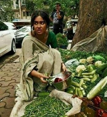 एक गरीब सब्जी वाली